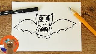 Бэтмэн рисунок в японском стиле кавай своими руками
