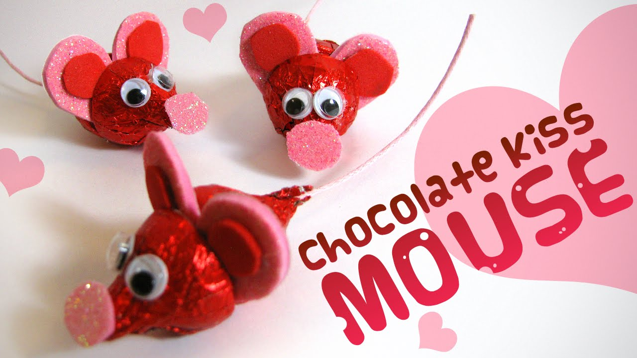 Chocolate Kiss Mouse Valentine S Day Gift Ideas For Kids Youtube