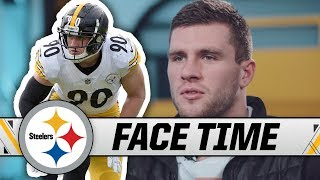 T.J. Watt Talks Learning from 2018 Season & the Art of the Strip-Sack   Steelers Face Time