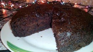Супер-влажный шоколадный пирог (без яиц)Очень простой рецепт