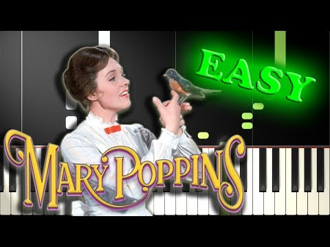 SUPERCALIFRAGILISTICEXPIALIDOCIOUS from MARY POPPINS - Easy Piano Tutorial