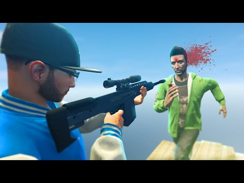 SNIPING JELLY IN THE FACE! (GTA 5 Funny Moments)