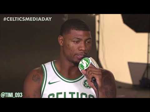 Marcus Smart FULL Media Day Interview (09/25/2017)
