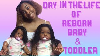 DAY IN THE LIFE OF A REBORN BABY & TODDLER