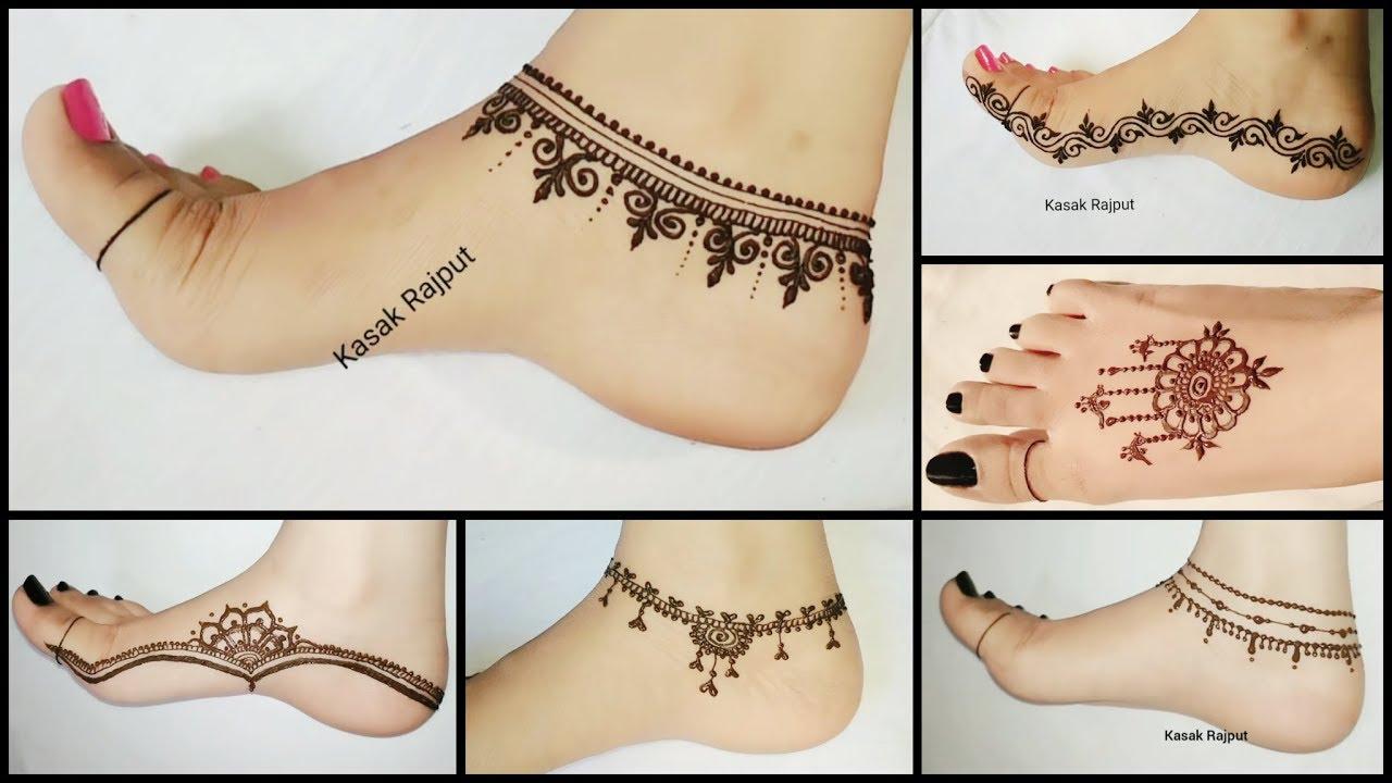 cute simple mehendi designs for legs