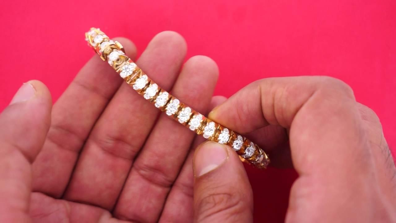 14 Carat Diamonds Mens New Style Tennis Bracelet Youtube