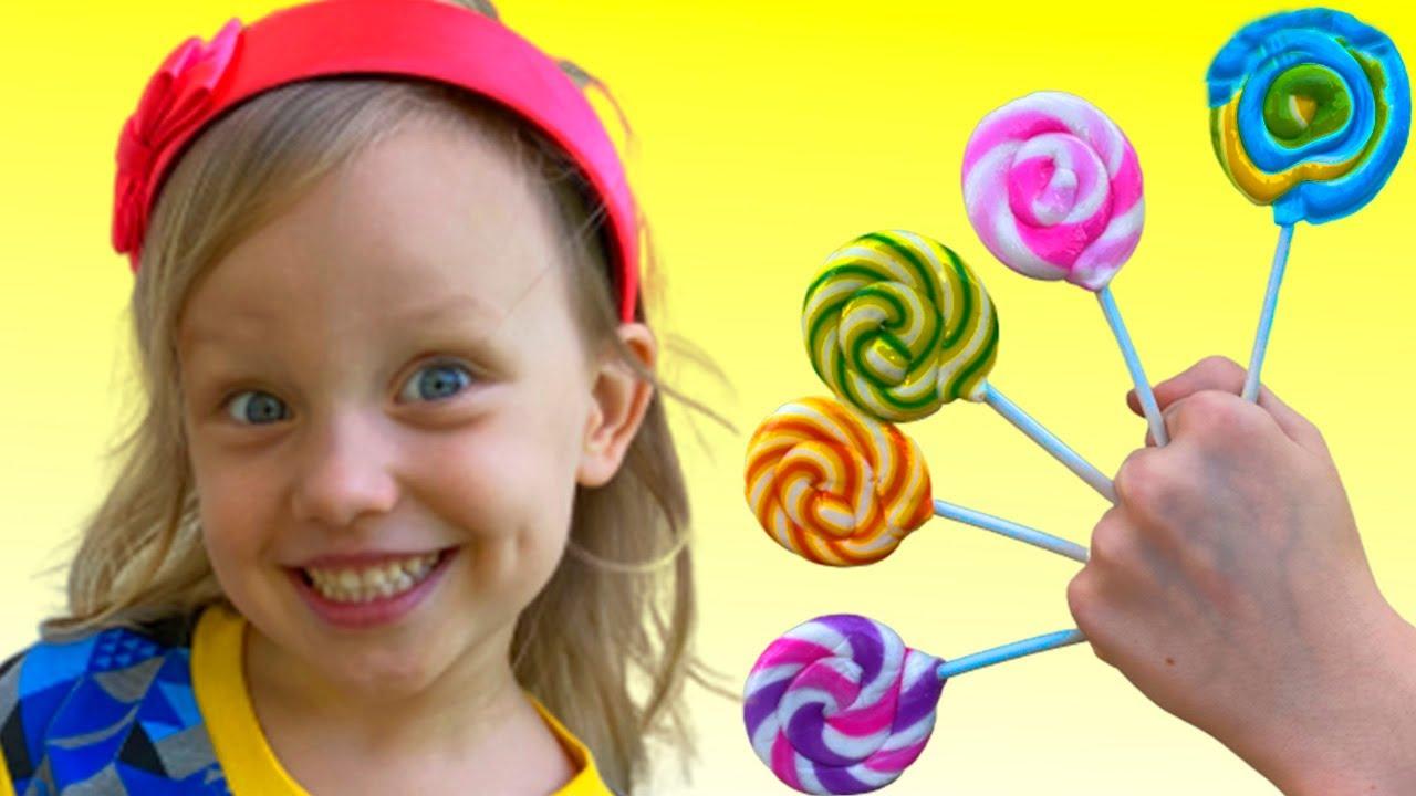 أغنية بابا فنجر الأسرة حلوى | Daddy Finger Family Candy song | Alex and Nastya