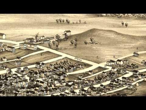 Schuylerville New York 1889 Panoramic Bird's Eye View Map 7343