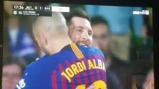 Golazo de Lionel messi tiro libre vs Real betis