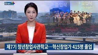 yesTV뉴스 제7기 청년창업사관학교 졸업식역대 최다 …
