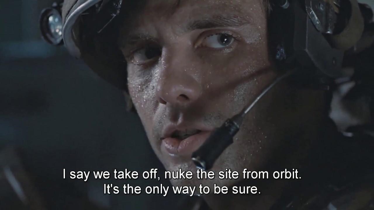 I SAID: Nuke the site from orbit | Alien DC - YouTube