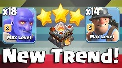 New Trend 14 Miner 18 Bowler  Destroyer Army TH11 3 Star Max War Attack Strategy Clans Of Clans