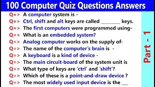 100 Computer GK | Basic Computer General Knowledge Questions and Answers | Computer Trivia  PART - 1 screenshot 4