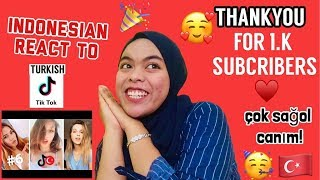 THANKYOU FOR 1K SUBCRIBERS !!! ( TURKISH TIKTOK REACTION )