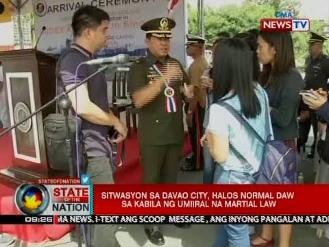 SONA: Pres. Duterte, pinulong ang gabinete sa Davao City kaugnay ng Martial Law sa Mindanao