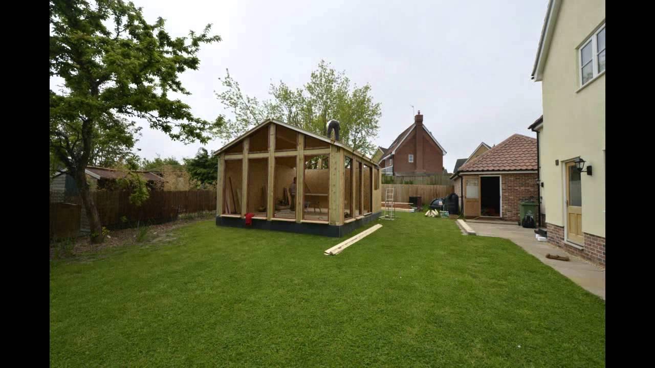 Garden lodges sip panel video garden building for Sips garden buildings