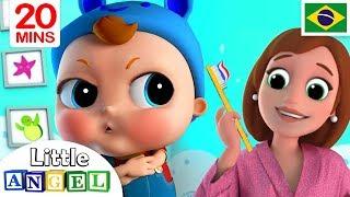 Não, Não Quero Escovar os Dentes! | + Vídeos Infantis | Little Angel Português