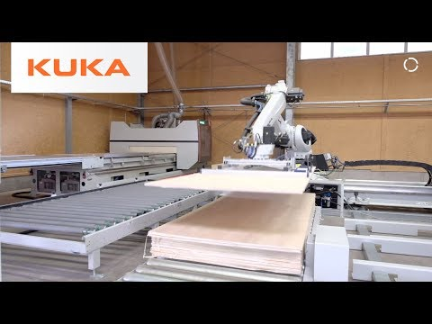 KUKA Robot Acts As A Multifunctional Assistant In The Wood Industry