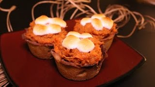Healthy Thanksgiving Recipes. Quinoa Sweet Potato Pie Cupcakes by Macro Meals