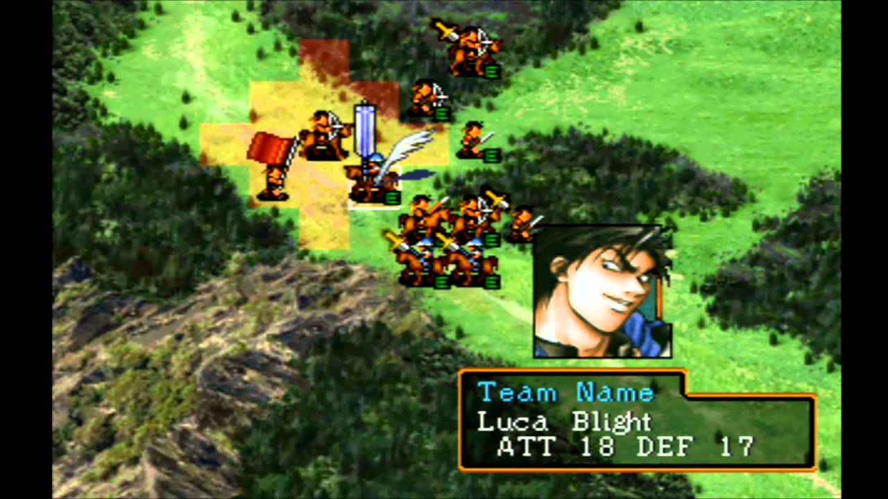 Suikoden II 058   Map Battle VS The White Wolves