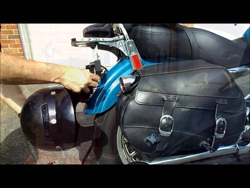 clever dual motorcycle helmet lock - review - youtube