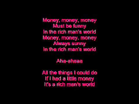 Abba - Money Money Money - Lyrics