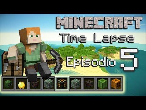 Minecraft Survival 1.12 - Time Lapse - La isla - Episodio 5: Sorpresas debajo de mi casa.