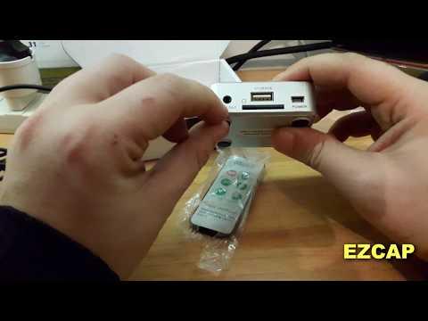 Ezcap music digitizer Registratore e convertitore audio,da qualsiasi formato a file MP3, telecomando