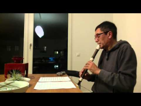 L. v. Beethoven, Moonlight, for solo recorder
