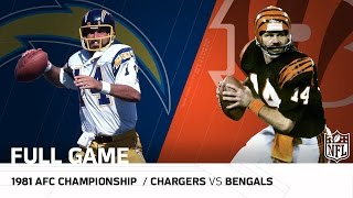"1981 AFC Championship Game: Chargers vs. Bengals | ""The Freezer Bowl"" 