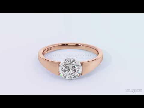 Tension diamond and rose gold ring wholesale at Durban Jewellery Stores