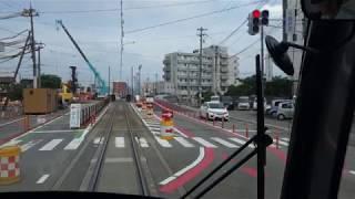 富山ライトレール TLR0600形(TLR0603) インテック本社前~奥田中学校前 前面展望