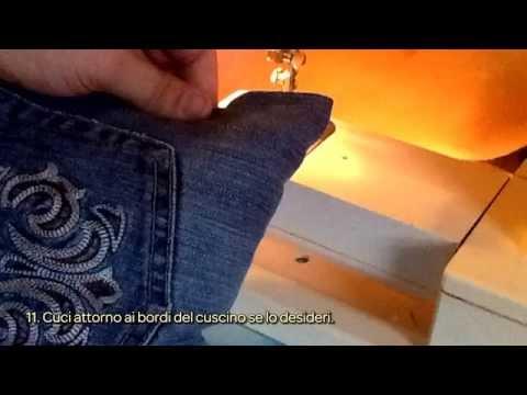 Cuscini Di Jeans.Crea Un Cuscino Di Jeans Fai Da Te Casa Guidecentral Youtube