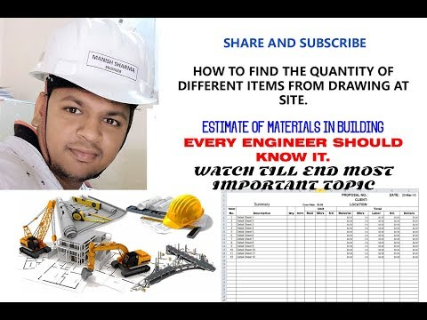 How to do Estimate of different items in building || what is measurement book (M.B.)