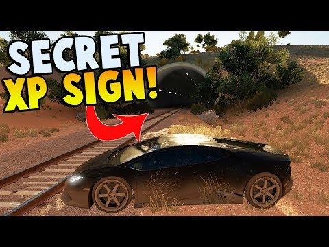 SECRET EXP SIGN LOCATION & TRAIN STOPPING?! - Forza Horizon 3 - Hot Wheels DLC Gameplay  & FUNNY!