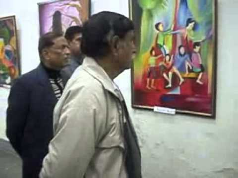 Avinash gaget's painting exhibition at Amritsar Indian Academy of fine arts