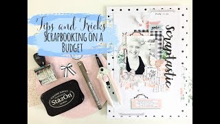 Tips for Scrapbooking on a Budget | Process Video | Lauren Hender