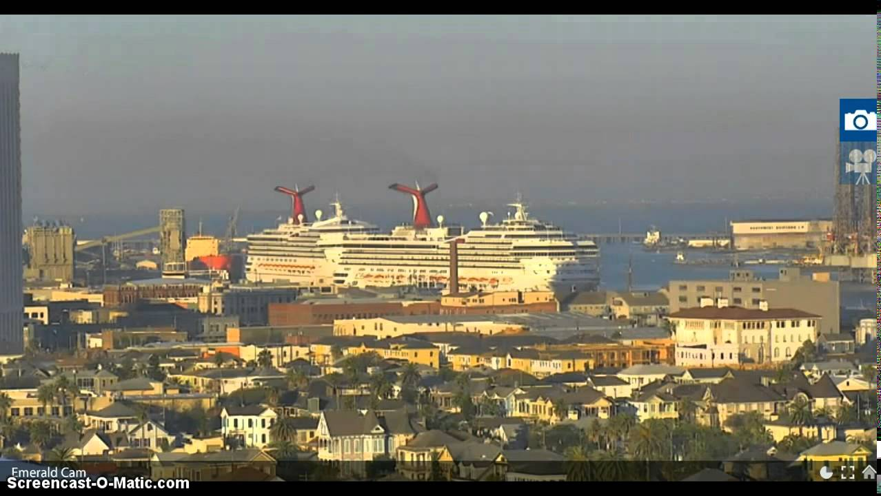 THREE Cruise Ships In The Port Of Galveston 5 Dec 2015  YouTube