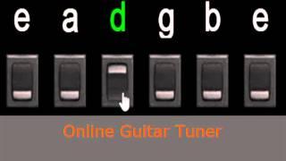 mini guitar tuner online (standar tunning)