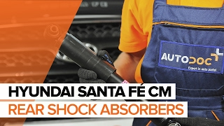 How to replace rear shock absorbers on HYUNDAI SANTA FÉ CM TUTORIAL | AUTODOC