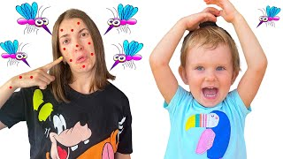 Полина и мама против комаров в своем доме