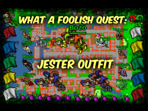 TIBIA OUTFIT: What a Foolish Quest//TIBIA EN ESPAÑOL//Jester Outfit