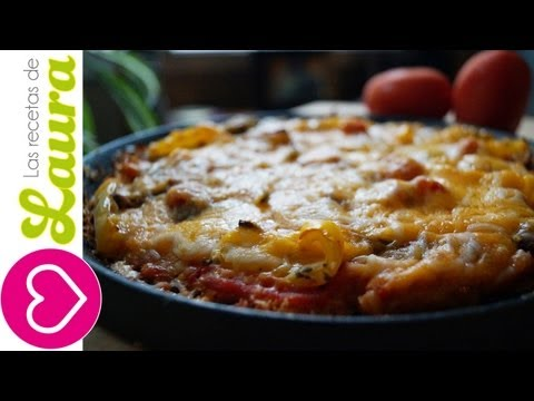 PIZZA sin harina ! Deliciosa y SALUDABLE - Comidas Saludables - Las Recetas de Laura