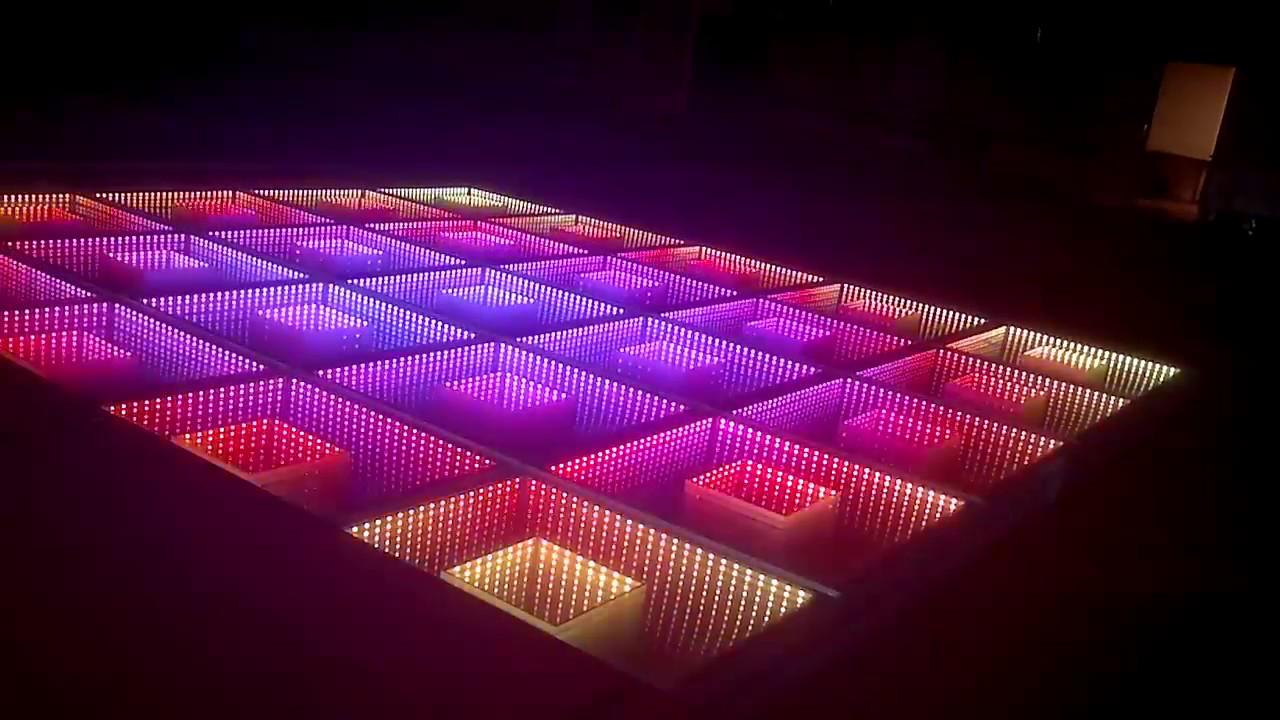 LED illuminated Dance Floor (3D illusion infinity mirror) - YouTube