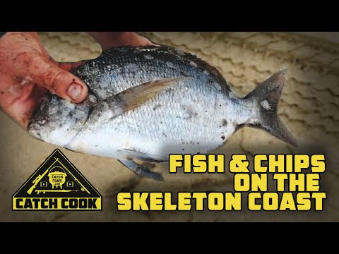 Catching sea bream on the legendary Skeleton Coast - Catch Cook, Namibia