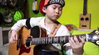Classical Gas (by Mason Williams) - Tommy Emmanuel(fingerstyle guitar cover by 8 year-old kid)