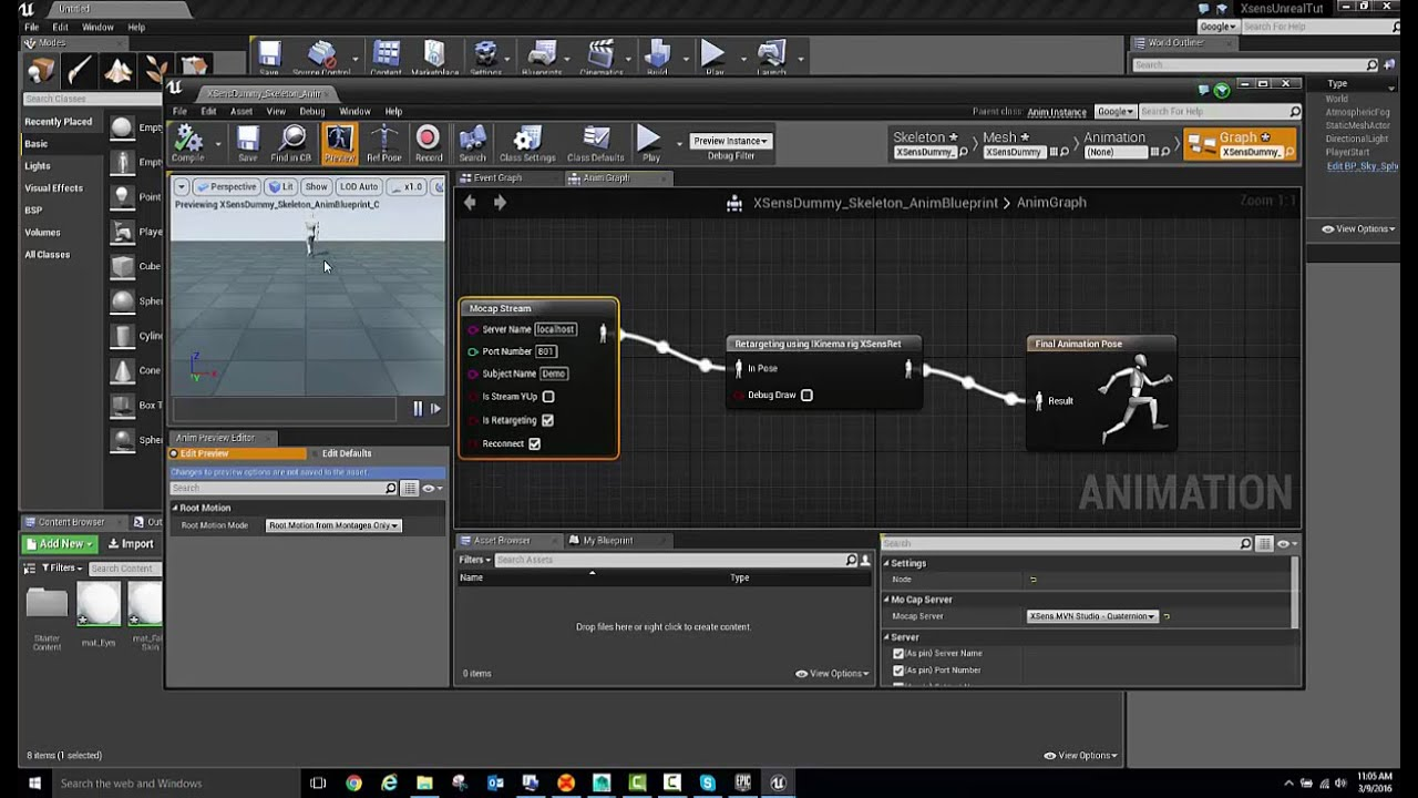 Unreal Engine - Xsens 3D motion tracking