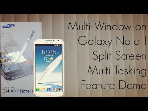 Multi-Window On Galaxy Note II Split Screen Multi Tasking Feature Demo