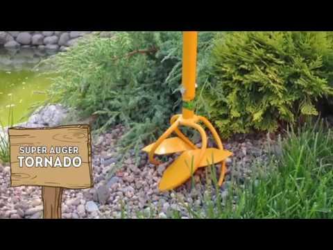 TORNADO GARDEN TOOL Super auger - YouTube