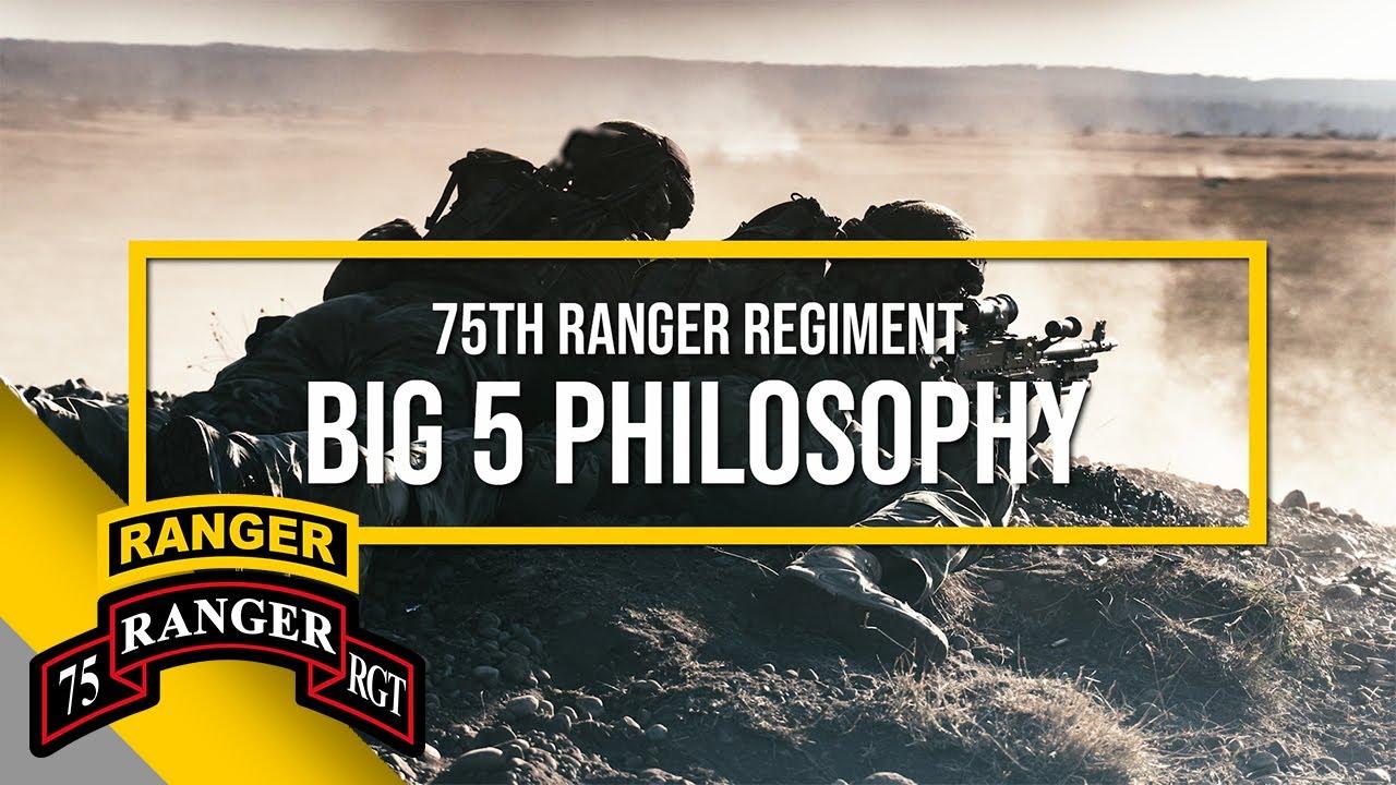 US Army – 75th Ranger Regiment Big 5 Philosophy